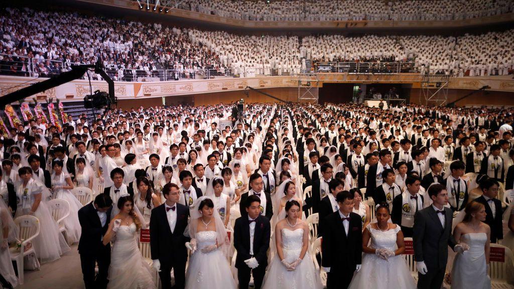 Boda multitudinaria en Corea