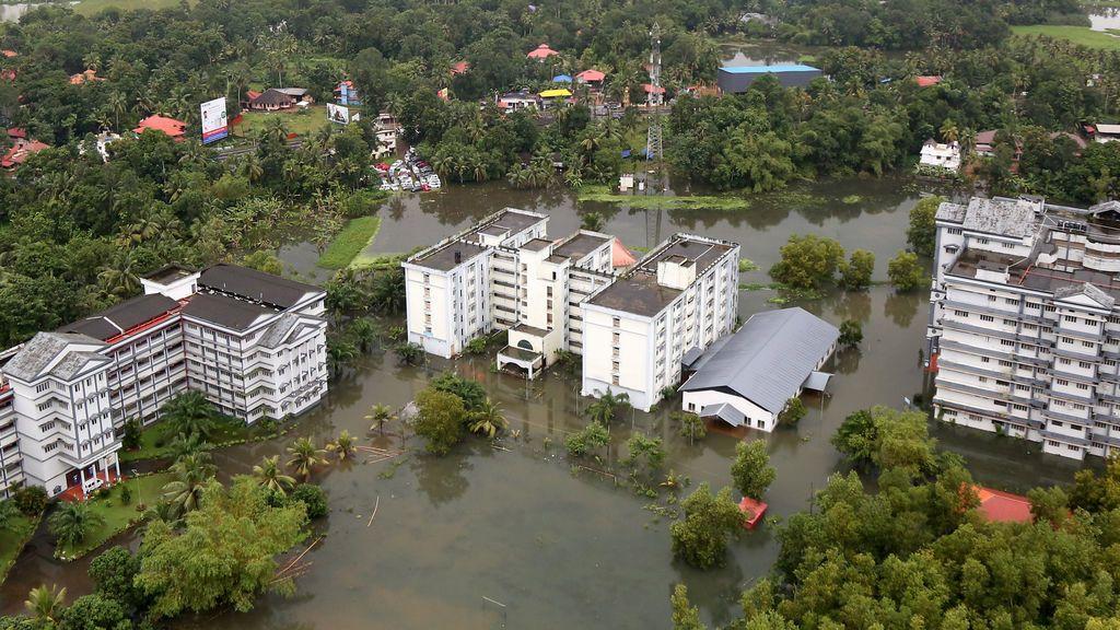 El estado inundado de Kerala (India)
