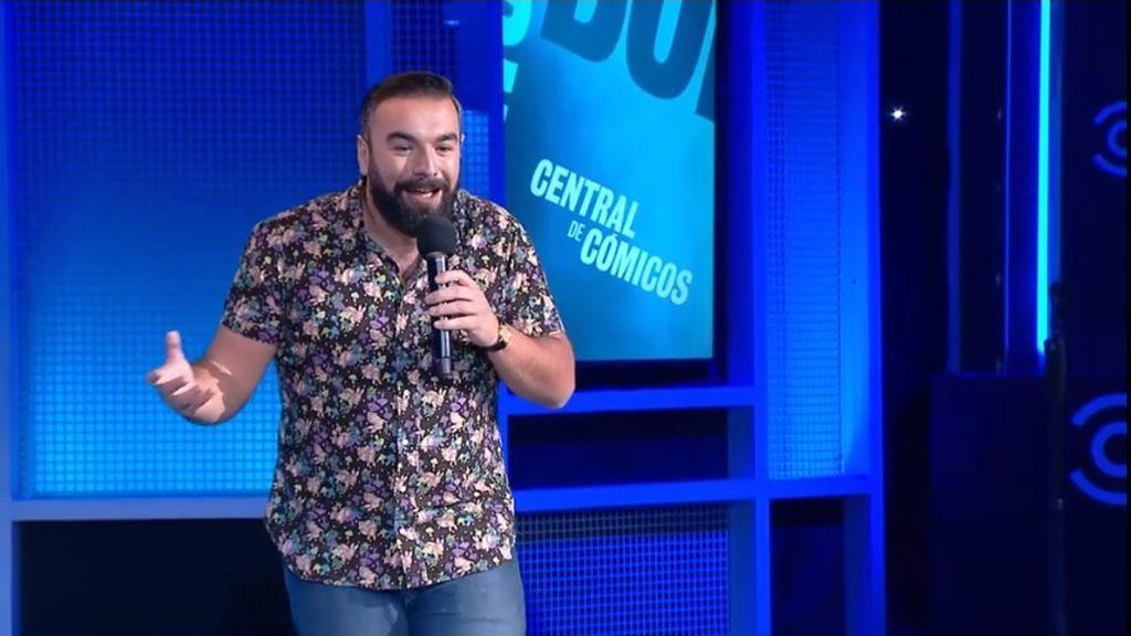 El humorista Rober Bodegas, durante una actuación en el canal de televisión Comedy Central.