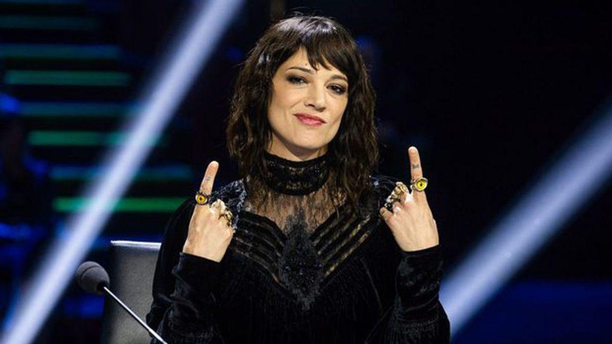 Asia Argento, durante las grabaciones del programa 'Factor X Italia'.