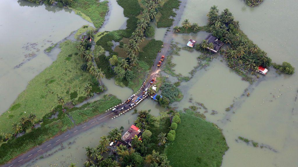 Inundación en varias zonas de India