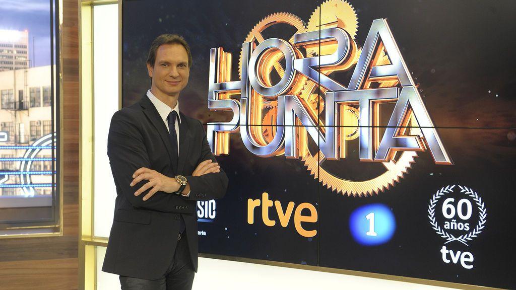 El presentador Javier Cárdenas, en el plató de 'Hora punta'.