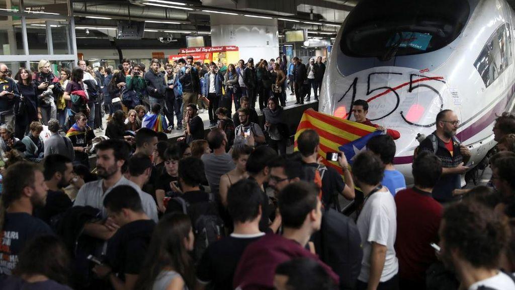 El número de huelguistas en Cataluña se multiplica por ocho por el procés