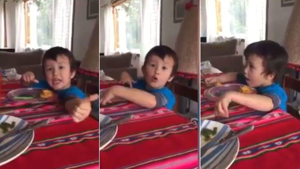 """La divertida explicación de un niño argentino sobre el himno de su país: """"A Gloria no le gusta morir"""""""