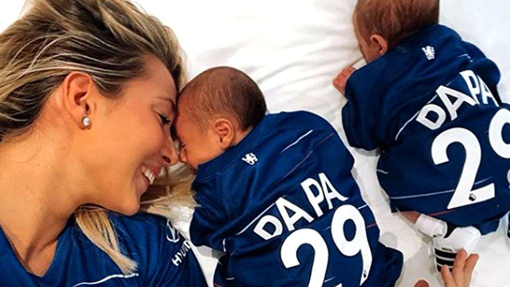 """La foto más tierna de Morata: """"Sois lo más bonito que existe en este mundo. Ale y Leo"""""""