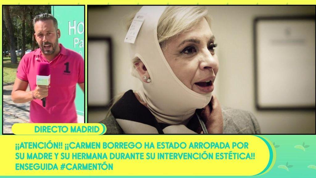 Carmen Borrego se recupera de su operación de papada
