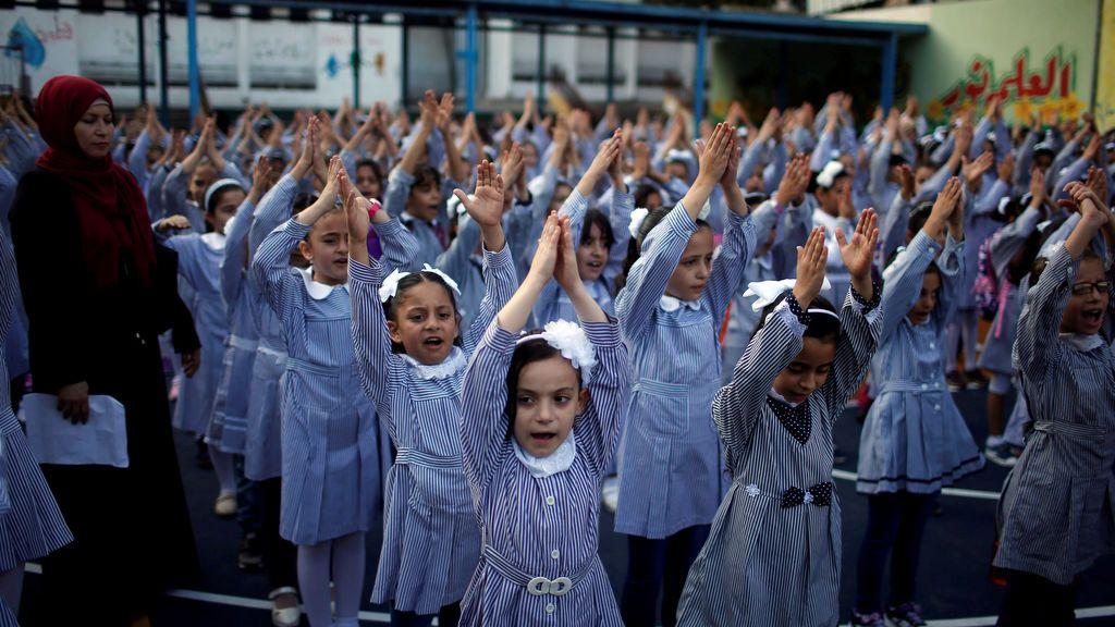 Los niños de Gaza sí se ilusionan por la vuelta al cole