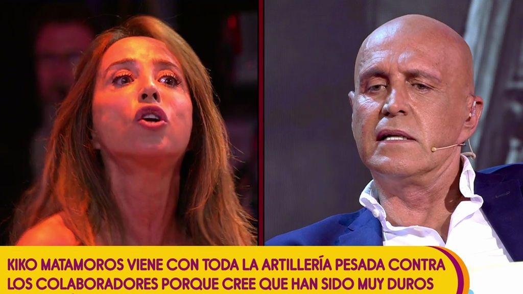 """María Patiño, contra Kiko Matamoros: """"A mí tú no me vas a decir que vienes a por mí"""""""