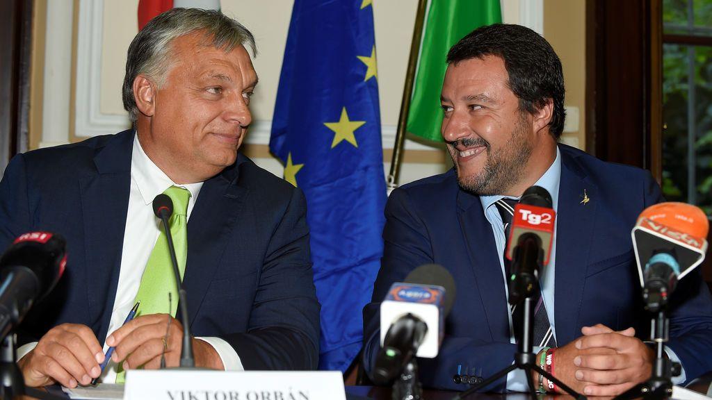 """Salvini y Orban, juntos para """"detener la inmigración"""""""