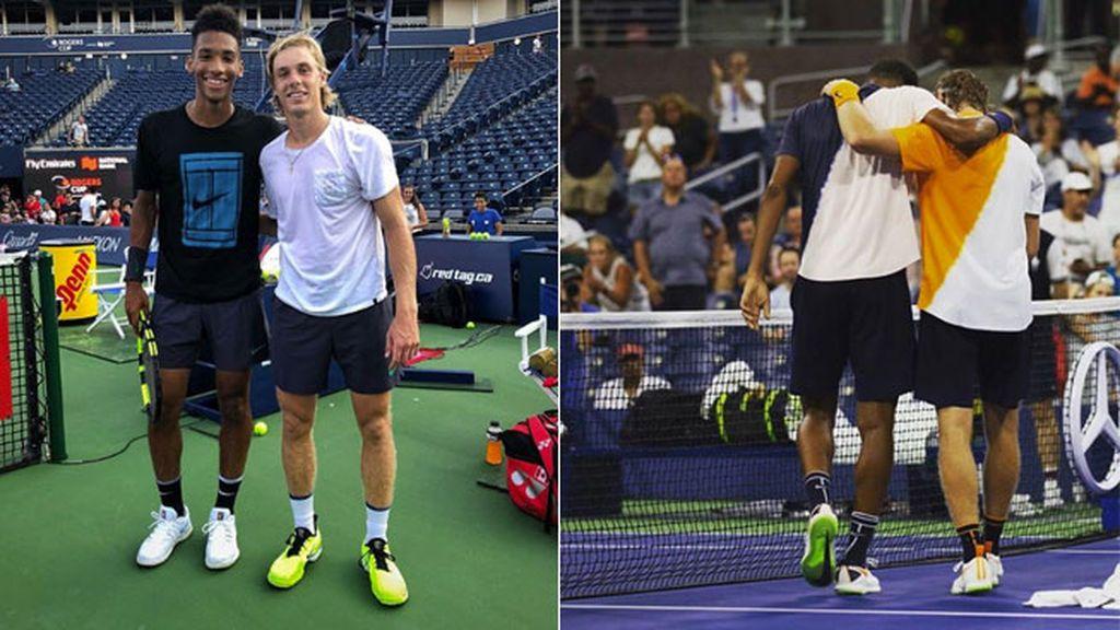 El increíble gesto de un tenista con su rival y amigo al retirse del US Open por problemas cardíacos