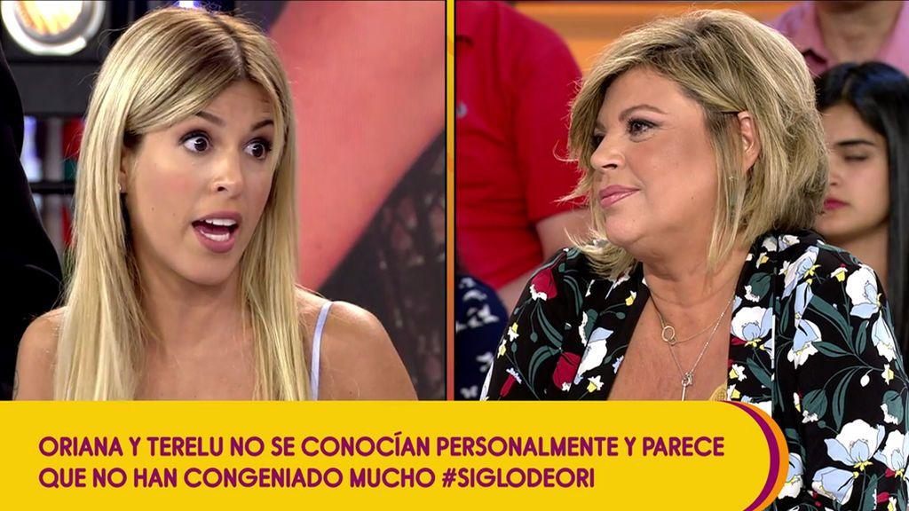 """Oriana se va del plató tras una discusión con Terelu: """"No nombres a mi hija Alejandra"""""""
