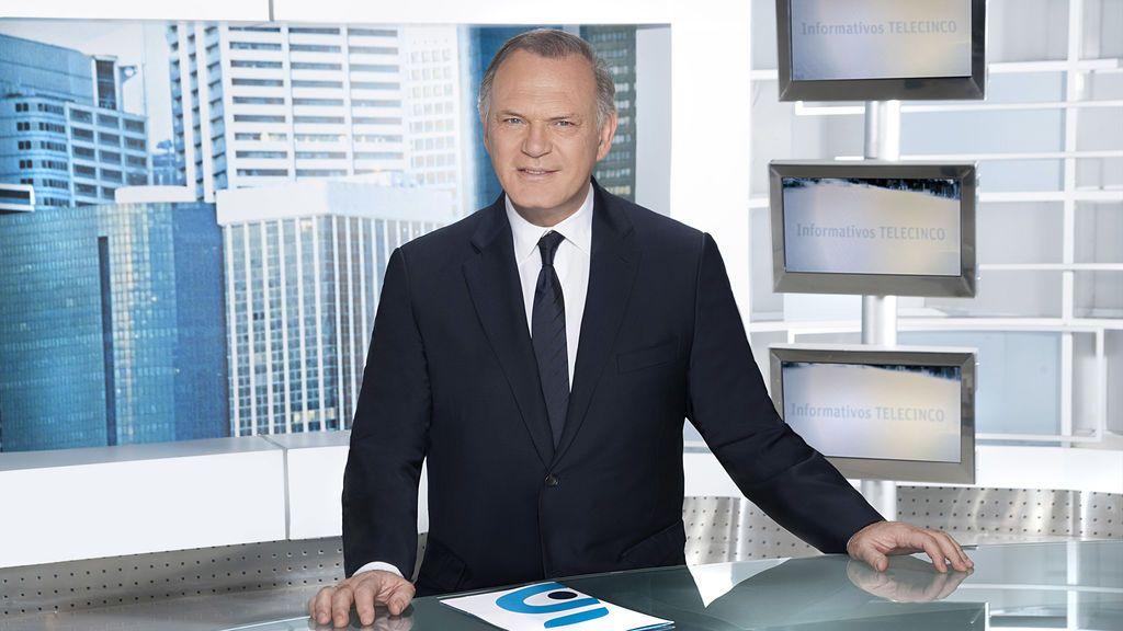 El presentador de 'Informativos Telecinco 21.00', Pedro Piqueras.