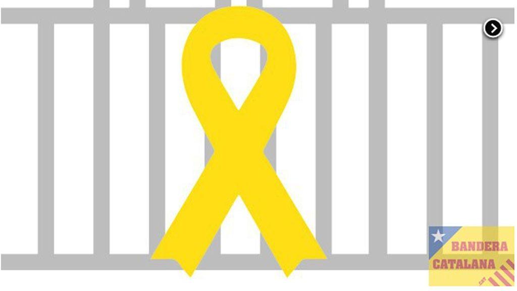 """Los lazos amarillos en Cataluña: """"Quitan 10 lazos, pondremos 20"""""""