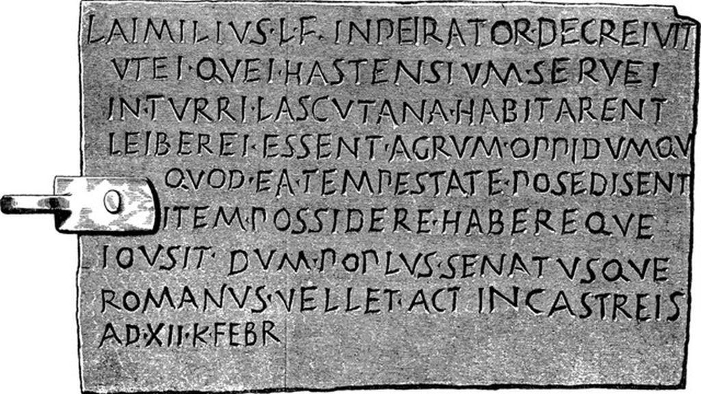 Un municipio de Cádiz disputa al Louvre la inscripción en latín más antigua de la Península