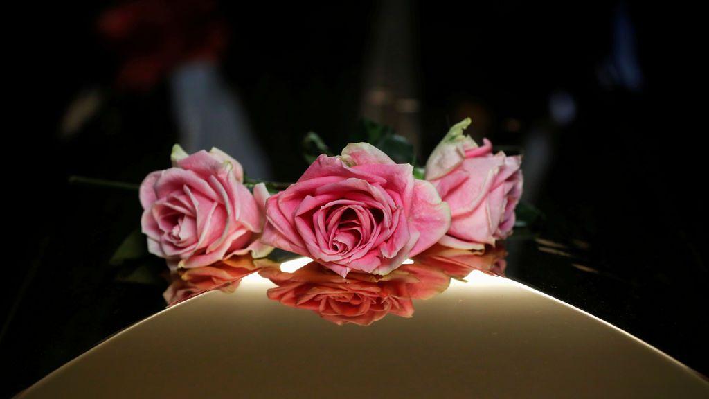Flores en el ataúd de Aretha Franklin