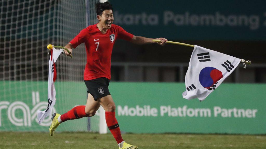 Son gana los Juegos Asiáticos y Corea del Sur le exime del servicio militar obligatorio