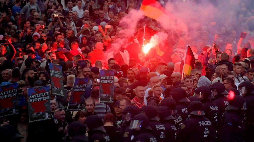 9 heridos en las manifestaciones Ultraderecha y antifascistas convocadas en Chemnitz