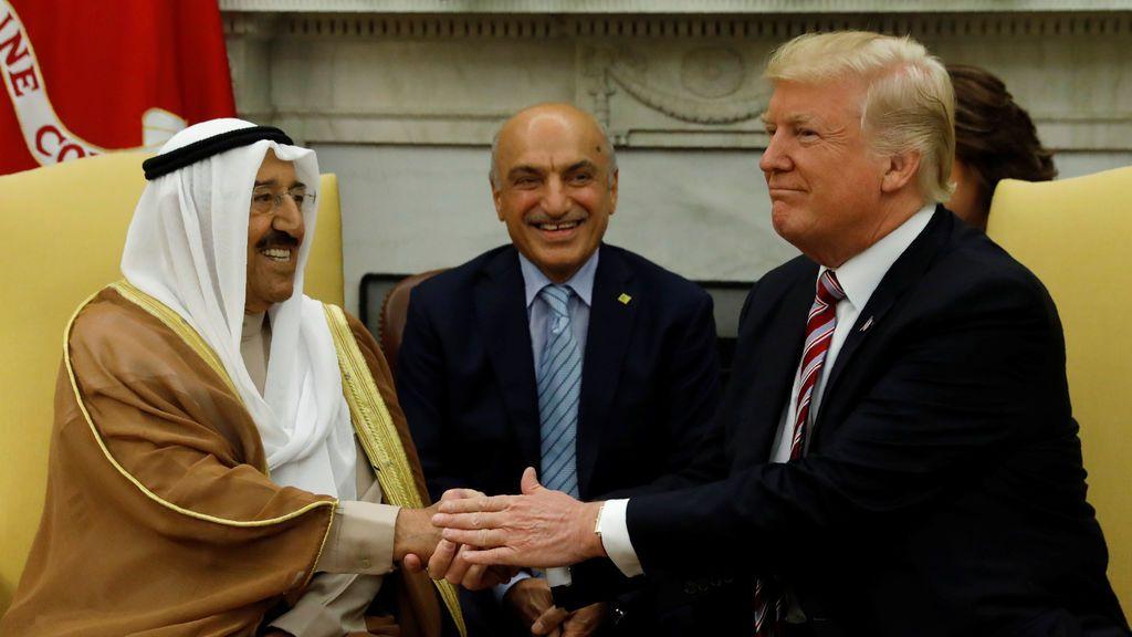 Bienvenida del emir de Kuwait a Estados Unidos