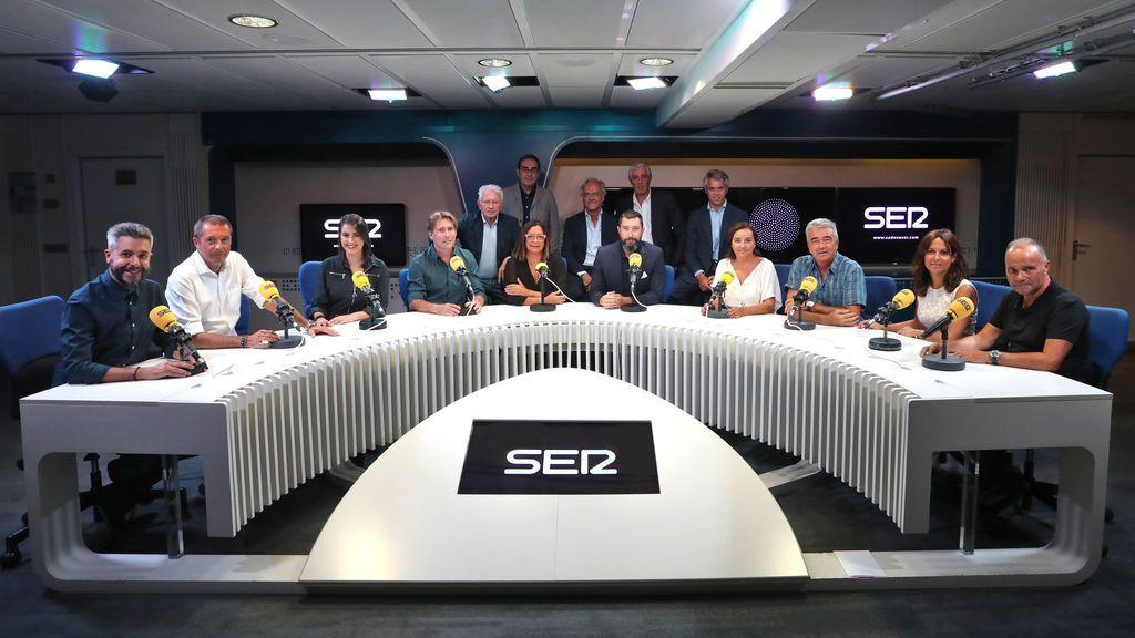 Equipo de la cadena SER, en la presentación de la temporada 2018-2019 el 3 de septiembre de 2018.