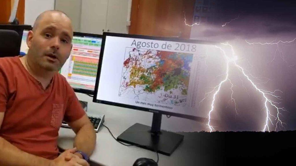 Ya es oficial: agosto de 2018, el mes con más rayos y tormentas en lo que va de siglo