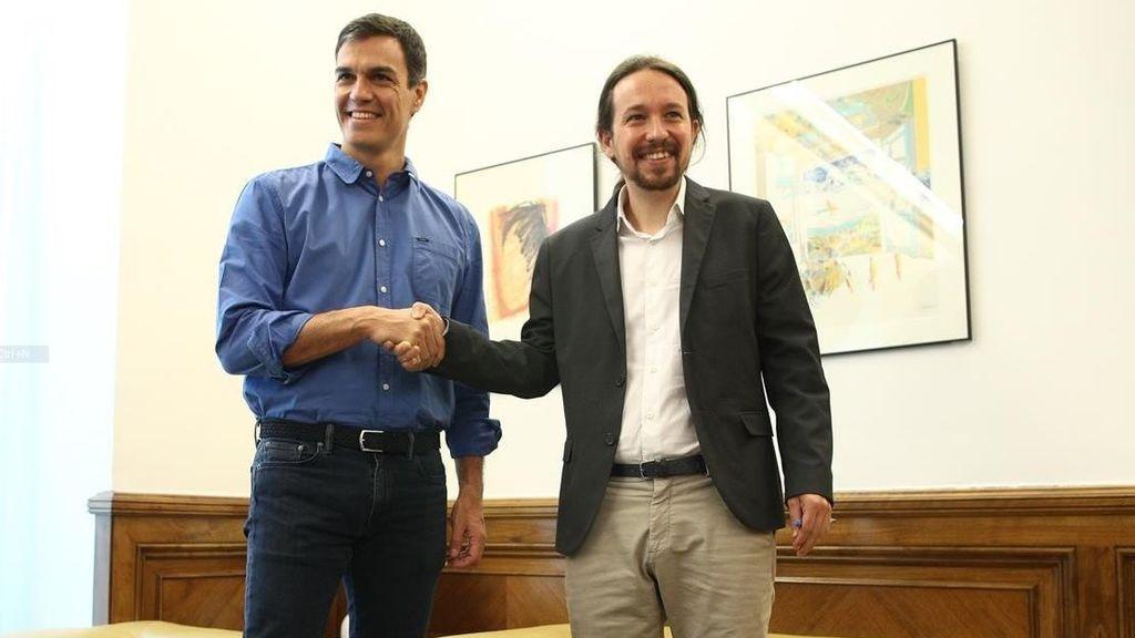 Iglesias dicta a Sánchez sus condiciones para cogobernar en el Parlamento