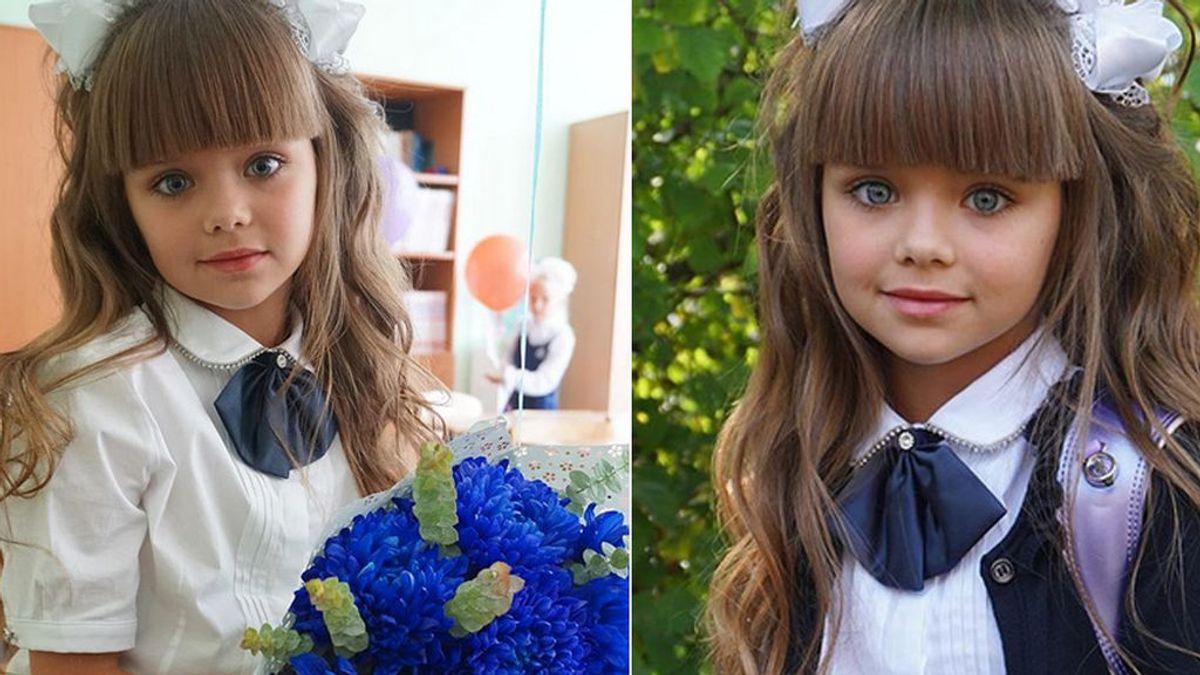 La niña más guapa del mundo ya va al colegio