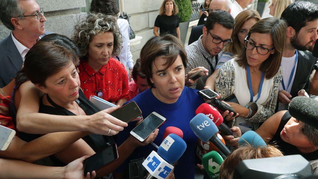 Soraya Sáenz de Santamaría deshoja la margarita sobre su continuidad en la vida política