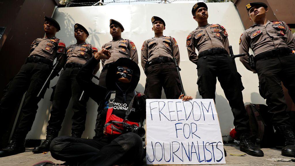 Indonesia reclama la libertad de los periodistas presos