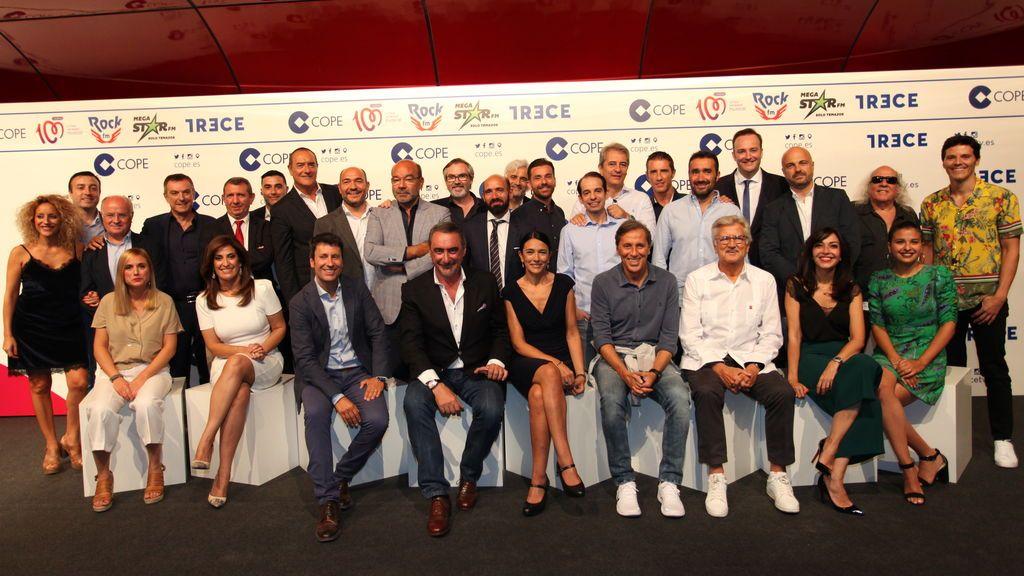 Los comunicadores de COPE y TRECE presentan la temporada 2018-2019 en el Auditorio Museo Nacional Centro Arte Reina Sofía, el jueves 6 de septiembre.