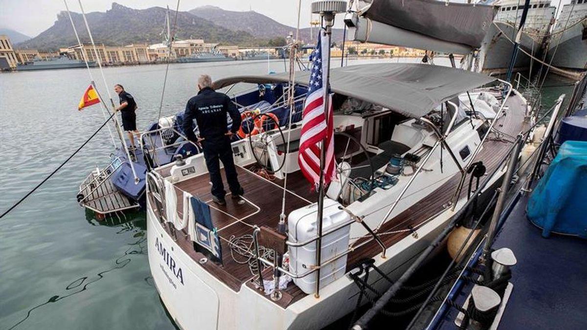 Interceptan un velero con siete toneladas de hachís en aguas de Cartagena