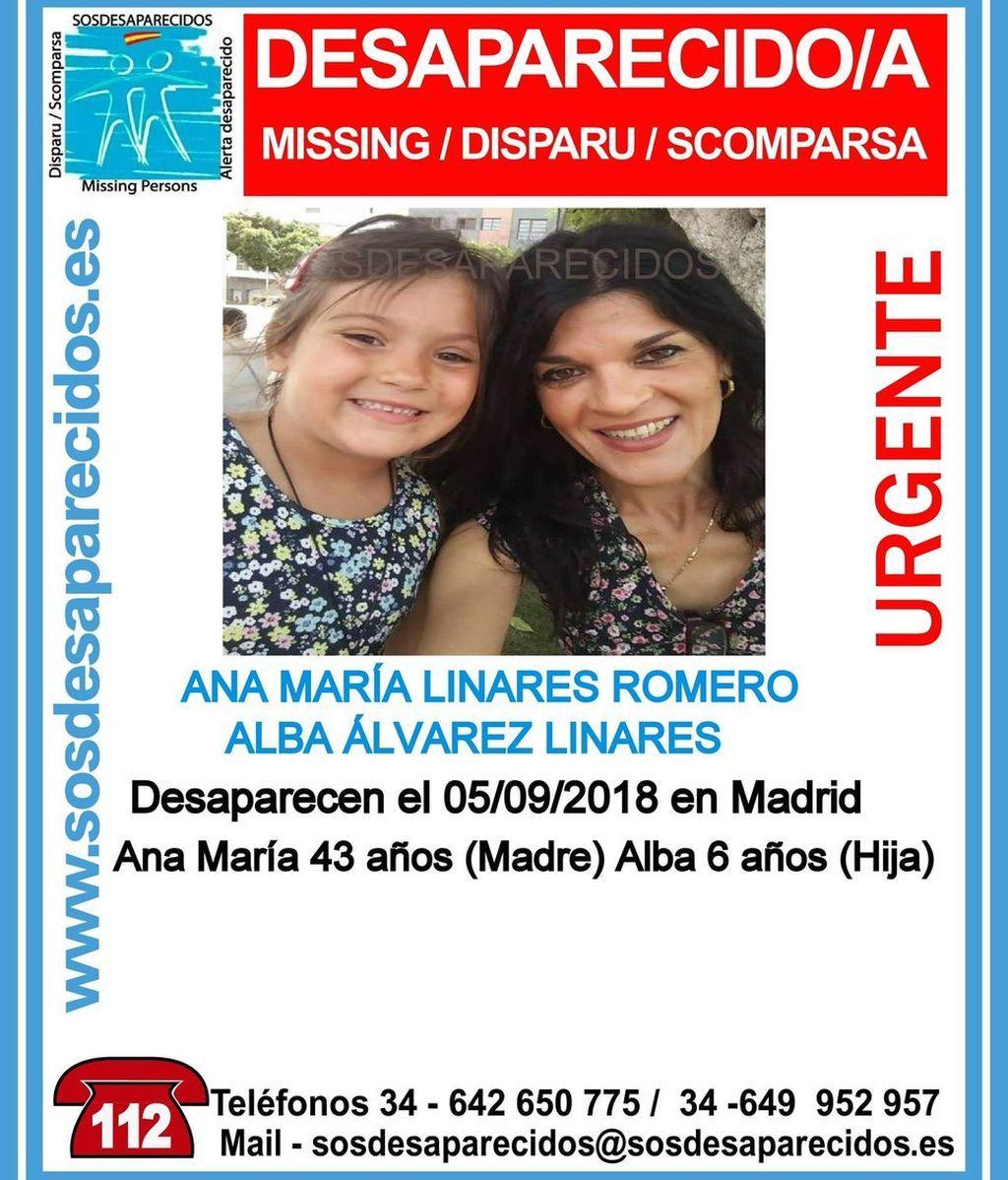 Buscan a una madre y a su hija de 6 años, desaparecidas en Madrid