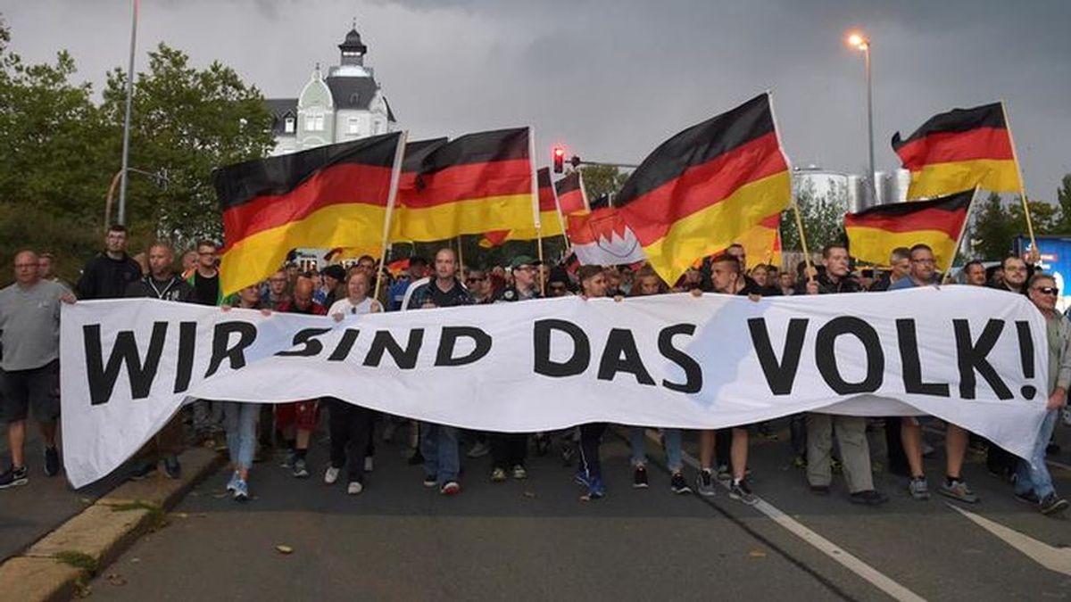 Jornada de protestas en la ciudad alemana de Chemnitz
