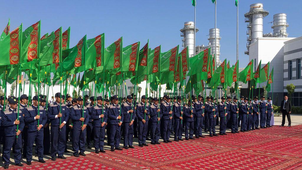 Inauguración de una planta de energía mejorada en Mary, Turkmenistán