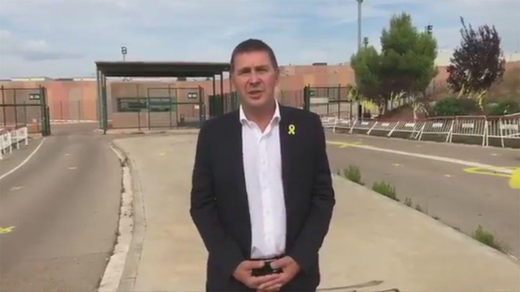 Otegi visita a los exconsejeros catalanes presos en la cárcel de Lledoners, Barcelona