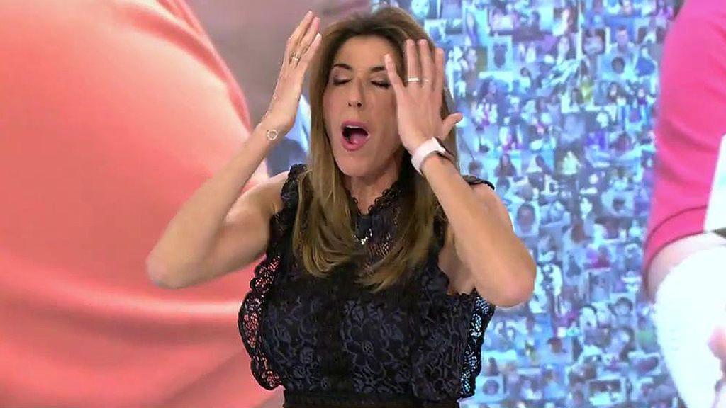 "Paz Padilla escenifica sus accidentes domésticos: ""Me quemé la cara desatascando el fregadero"""