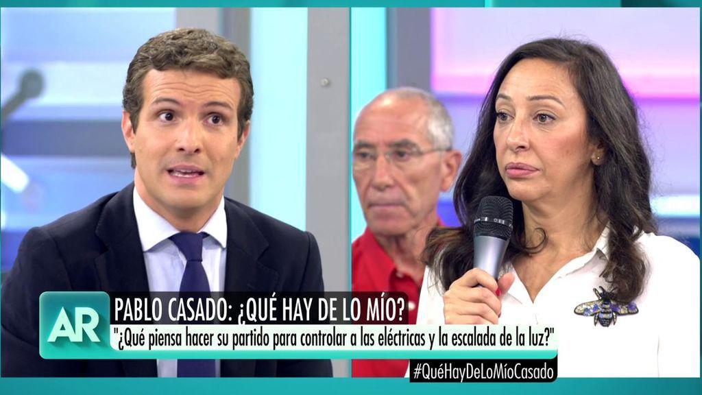 """La pregunta de una ama de casa a Pablo Casado: ¿Qué piensa hacer su partido para controlar la subida de la factura de la luz?"""""""