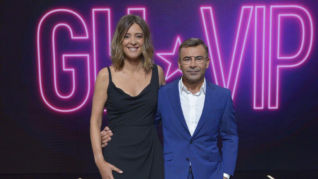 Sandra Barneda y Jorge Javier Vázquez, en el plató de 'GH VIP 6'.