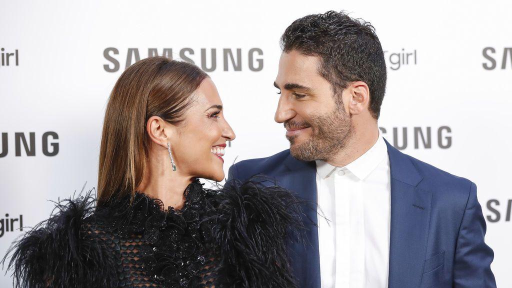 Paula Echevarría y Miguel Ángel Silvestre en el evento de presentación del Galaxy Watch de Samsung, el 11 de septiembre de 2018.