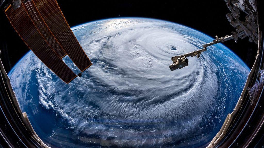 """Un astronauta sobre el huracán Florence: """"Una pesadilla va a por vosotros"""""""