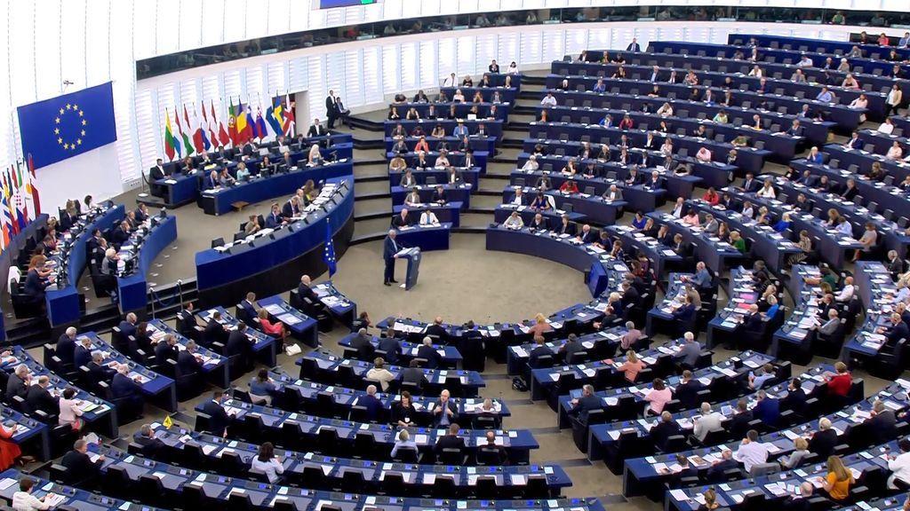 Reunión del pleno del Parlamento Europeo, el 12 de septiembre de 2018.