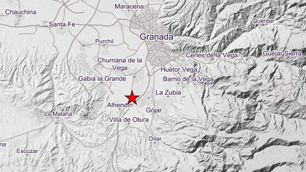 Registrado un nuevo terremoto en Granada de 3.2 grados