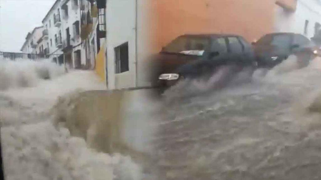 Caos en Ronda: cae la lluvia más brutal en años y las imágenes dan miedo