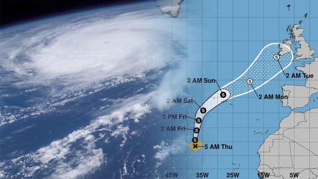 El anticiclón de las Azores se retira y se lo pone más fácil al huracán Helene para llegar a Europa