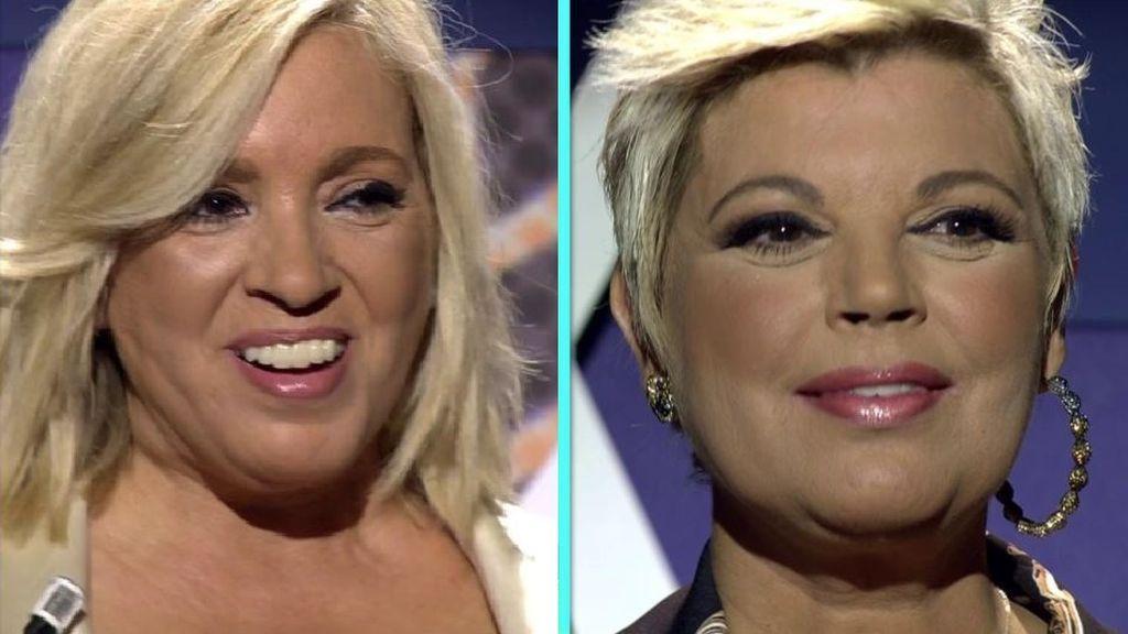 Las imágenes del antes y después de Terelu Campos y Carmen Borrego