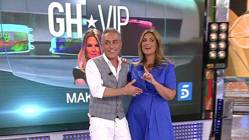 Carlota Corredera  y Kiko Hernández apuestan por la duración de Makoke en 'GH VIP': ¡El que pierda presenta disfrazado del otro!