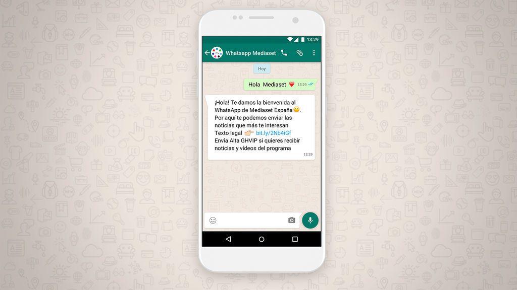 Ya puedes recibir en tu WhatsApp las noticias y vídeos de 'GH VIP'