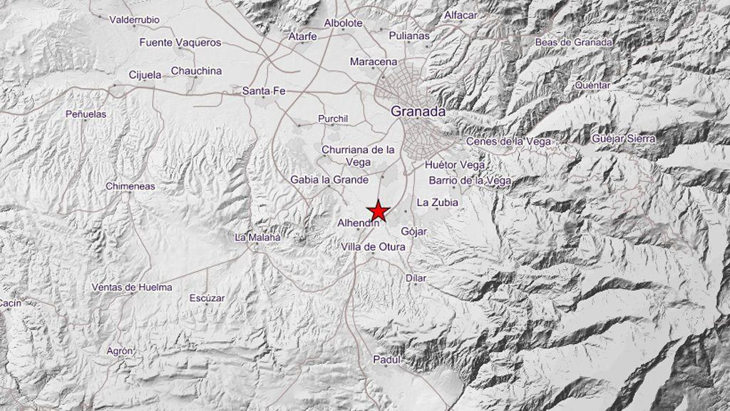 Un terremoto de 3.2 grados hace temblar a Granada