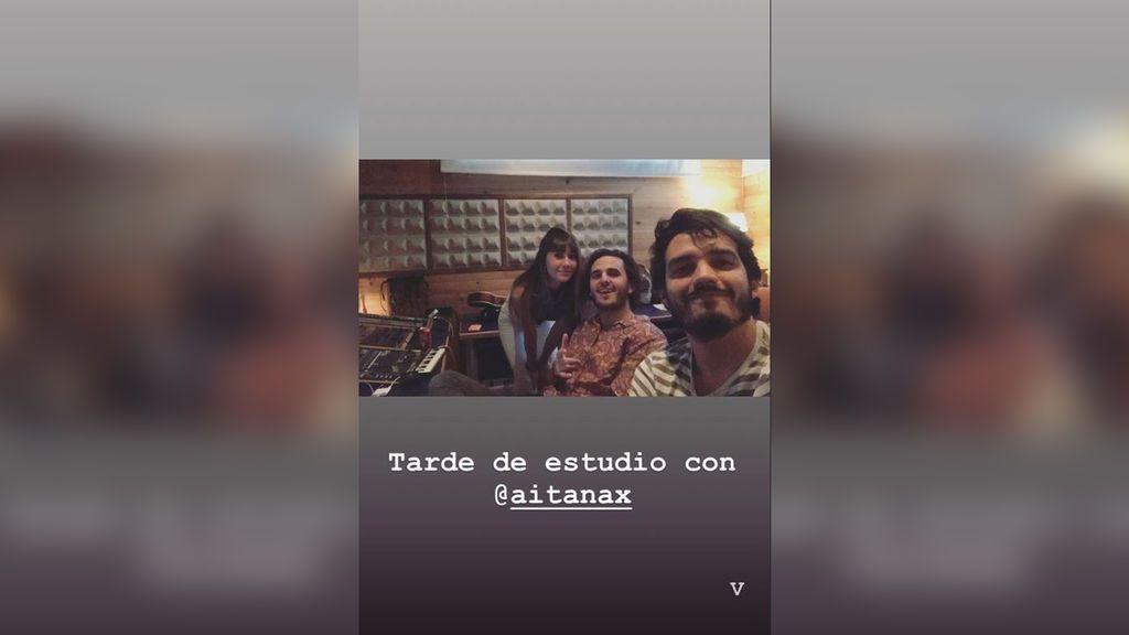 """Aitana enloquece a sus seguidores en Instagram: """"Esto es hype, hoy componemos con Morat"""""""