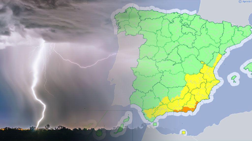 Un total de hasta 80 litros por metro cuadrado este sábado: trece provincias en aviso amarillo y dos en naranja