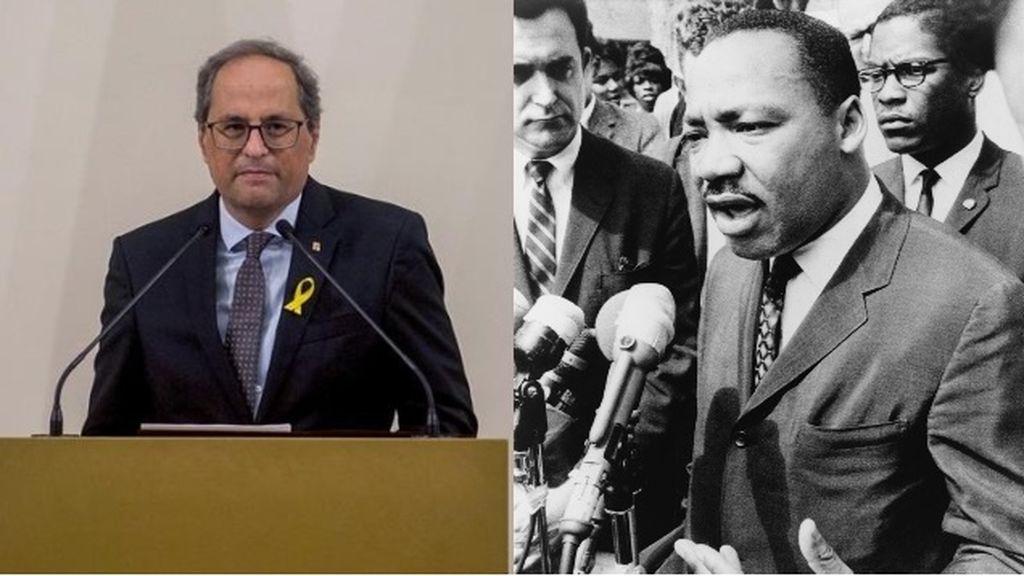 El Instituto Martin Luther King de Estados Unidos pide que Torra deje de usar su nombre en vano